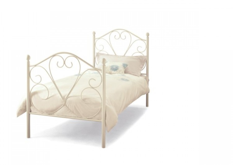 ... - Bed Metal Beds Ballet 3ft Single White Four Poster Metal Bed Frame