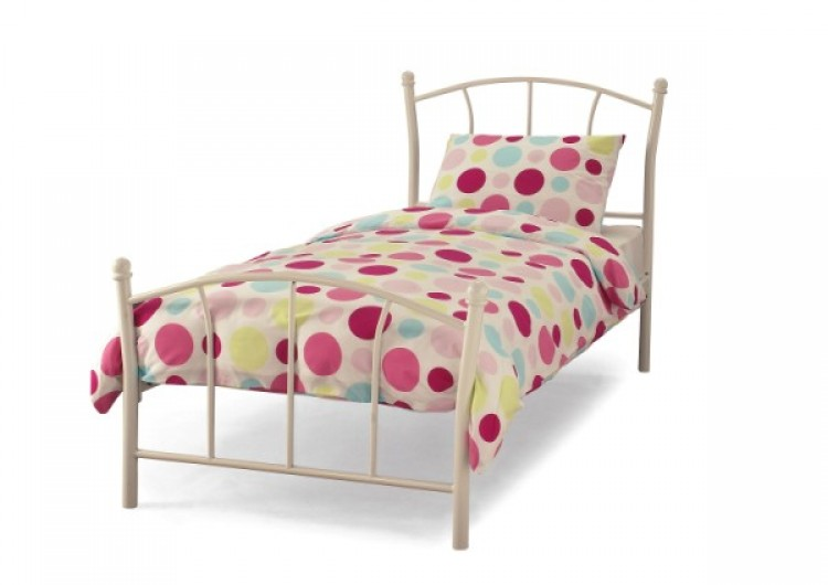 Serene penny 3ft single white metal bed frame by serene for Childrens single beds