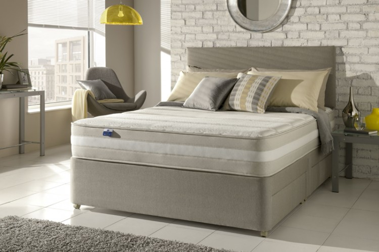Silentnight moscow 5ft kingsize 1200 mirapocket with for Silent night divan beds