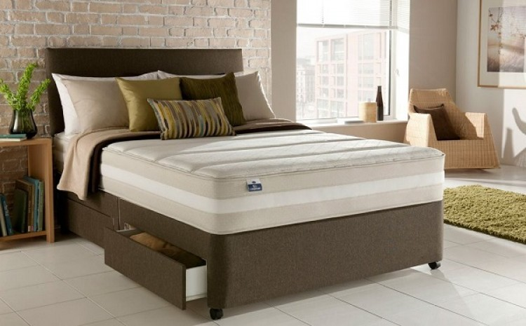 Silentnight barcleona 3ft single 1200 pocket spring system with latex divan bed by silentnight beds - Different types of bed frames ...