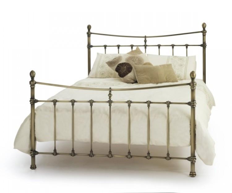 Serene Olivia 4ft6 Double Antique Brass Metal Bed Frame By Serene