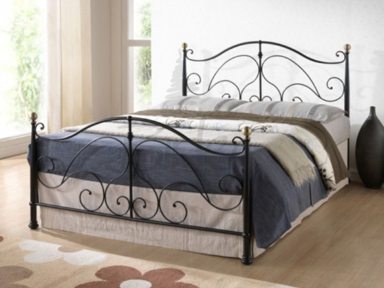 Birlea Milano Black 5ft Kingsize Metal Bed Frame By Birlea