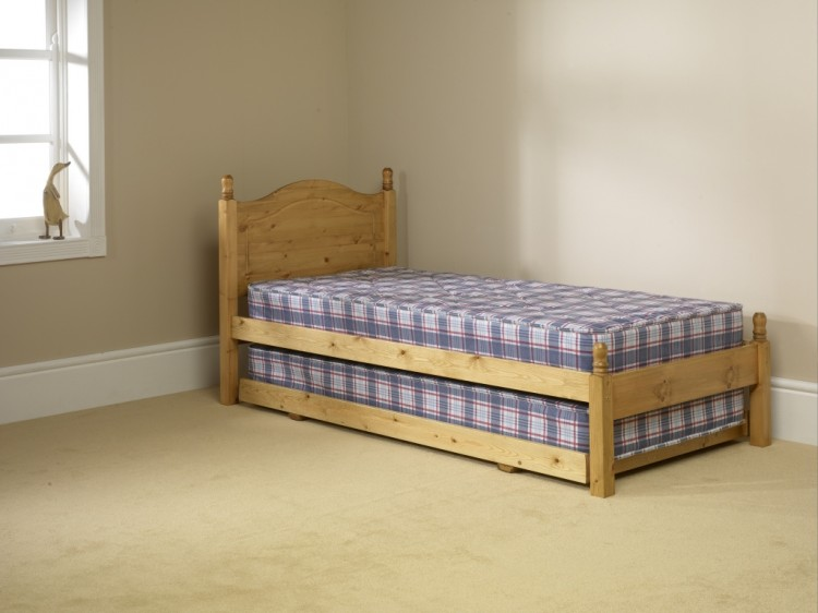 Friendship Mill 2ft6 Small Single Pine Wooden Guest Bed