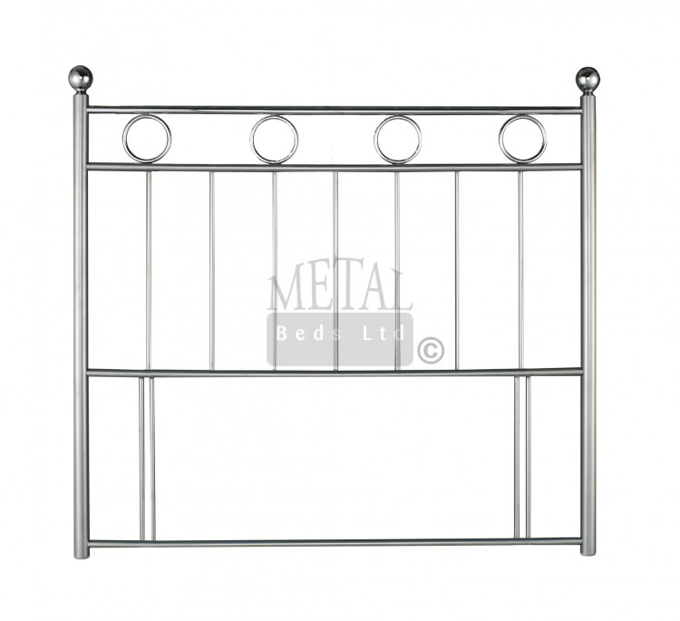 Metal Beds London 5ft Kingsize Silver And Chrome Headboard By Ltd