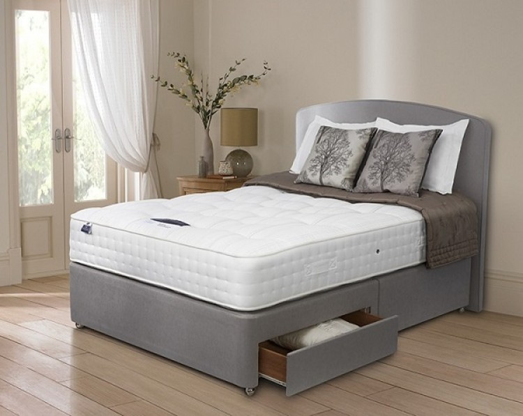 Silentnight premier pocket 2600 pocket spring 4ft 6 double Three quarter divan bed