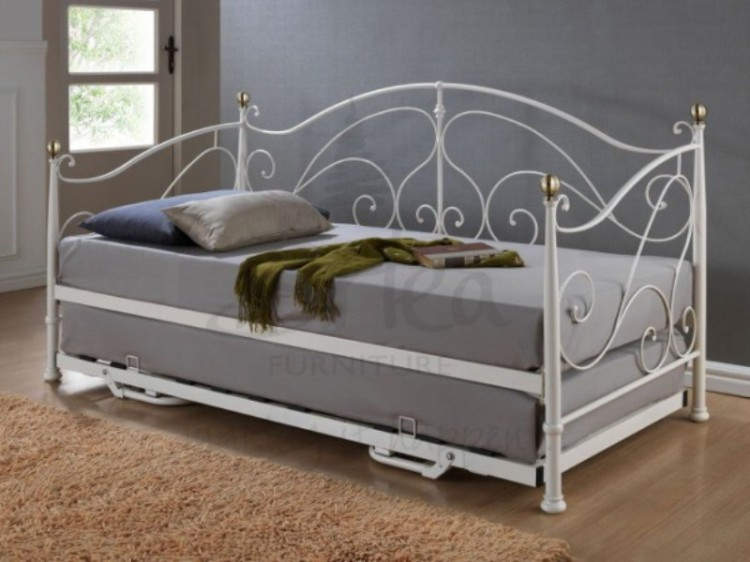 queen size daybed with trundle birlea 3ft single metal day bed frame with 7623