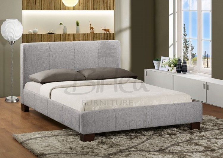 birlea brooklyn grey fabric 4ft small double bed frame by. Black Bedroom Furniture Sets. Home Design Ideas