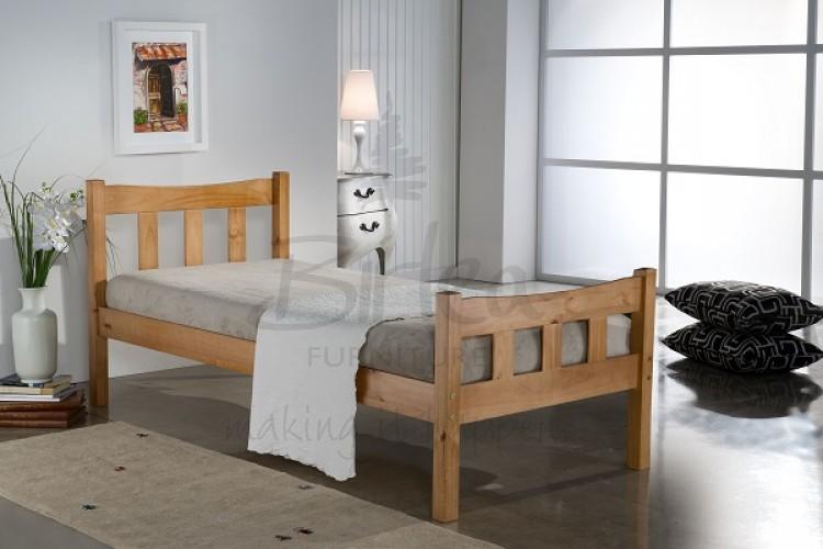 Birlea Miami 3ft Single Pine Wooden Bed Frame By Birlea