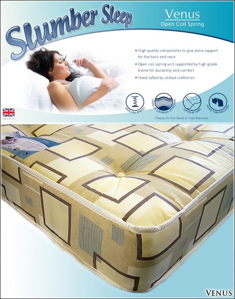 Time Living Slumber Sleep Venus 3ft Single Open Coil Spring Mattress By