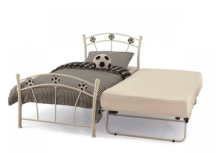 White Metal Bed Frame 750 x 530