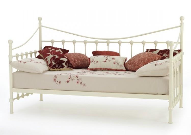 serene marseilles 3ft single ivory metal day bed frame. Black Bedroom Furniture Sets. Home Design Ideas