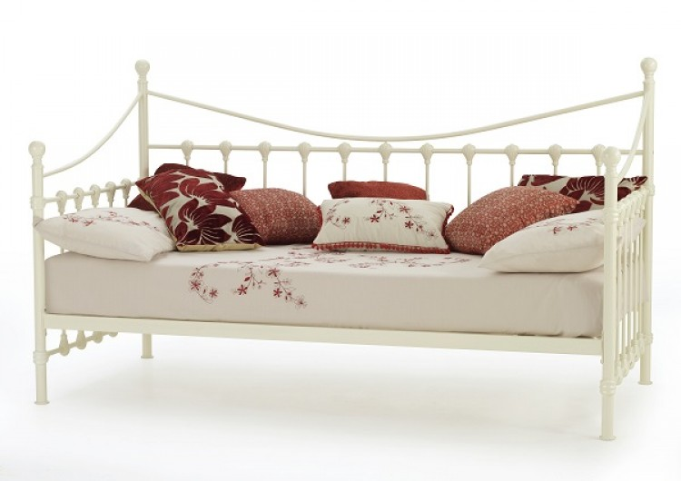 Serene marseilles 3ft single ivory metal day bed frame - Different bed frames ...