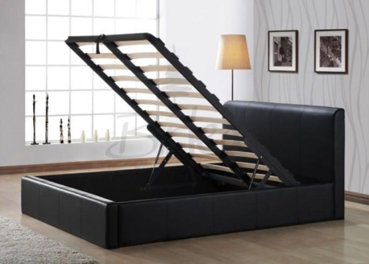 Birlea Ottoman 4ft Small Double Brown Faux Leather Bed Frame - Birlea Ottoman 4ft Small Double Brown Faux Leather Bed Frame By Birlea