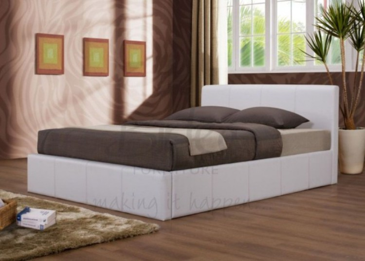 Excellent Birlea Ottoman 3Ft Single Faux Leather White Bed Frame By Birlea Caraccident5 Cool Chair Designs And Ideas Caraccident5Info