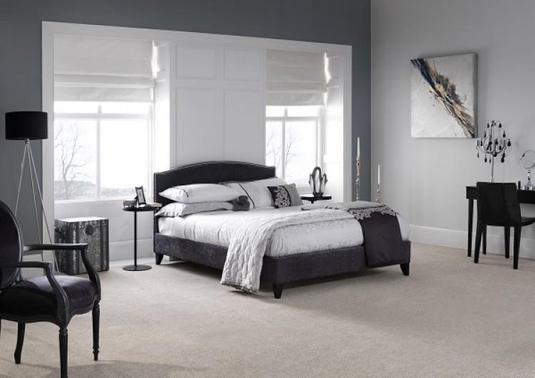 Serene Charlotte 6ft Super Kingsize Charcoal Fabric Bed