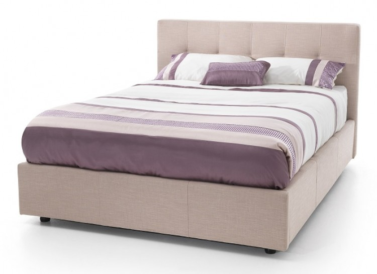 serene lucca 4ft small double stone fabric ottoman bed