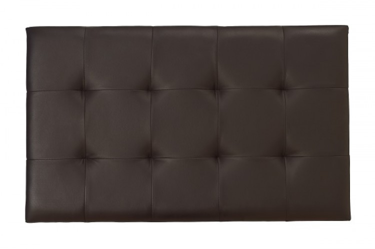 Serene Romana 3ft Single Brown Faux Leather Headboard By Furnishings