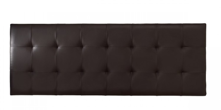 Serene Romana Ft Super Kingsize Brown Faux Leather Headboard By Designs
