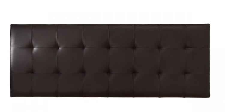 Serene Romana 6ft Super Kingsize Brown Faux Leather Headboard By Furnishings