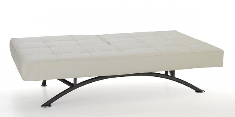 serene pavia orchard white faux leather sofa bed by serene furnishings