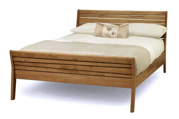 Serene Zahra Honey Oak 4ft6 Double Wooden Bed Frame By Serene
