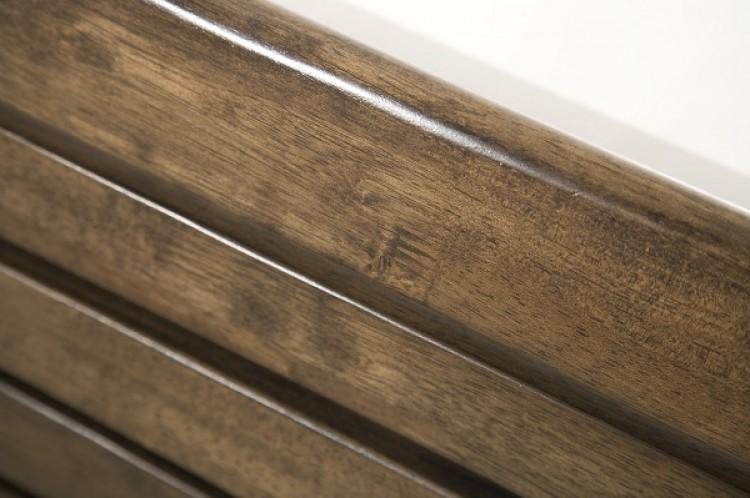 walnut double frame serene zahra walnut 5ft kingsize wooden bed frame