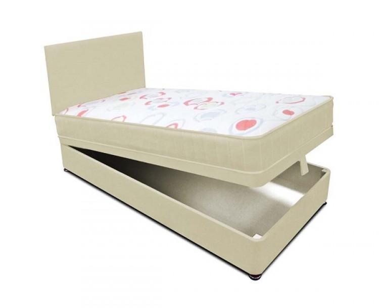 Joseph planet cream 2ft 6 small single open coil bonnell for Cream single divan bed