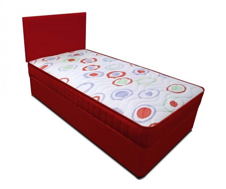 Joseph planet red 3ft single open coil bonnell spring for 3 foot divan bed
