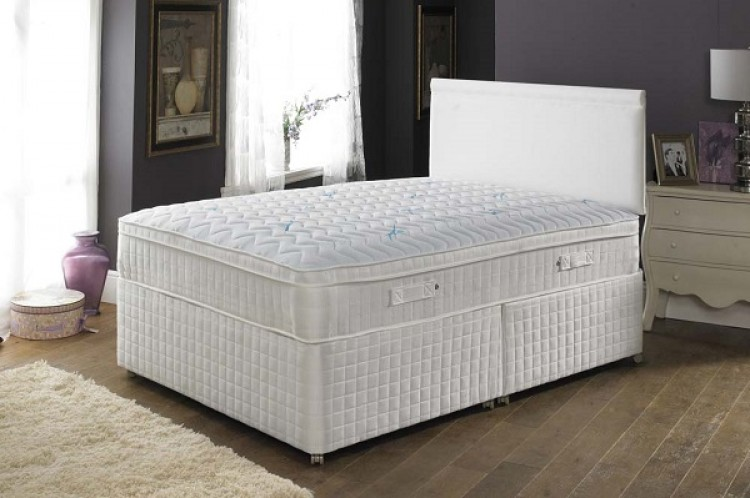 Joseph pillowtalk latex ultimate 2000 pocket sprung with for Double divan bed with firm mattress