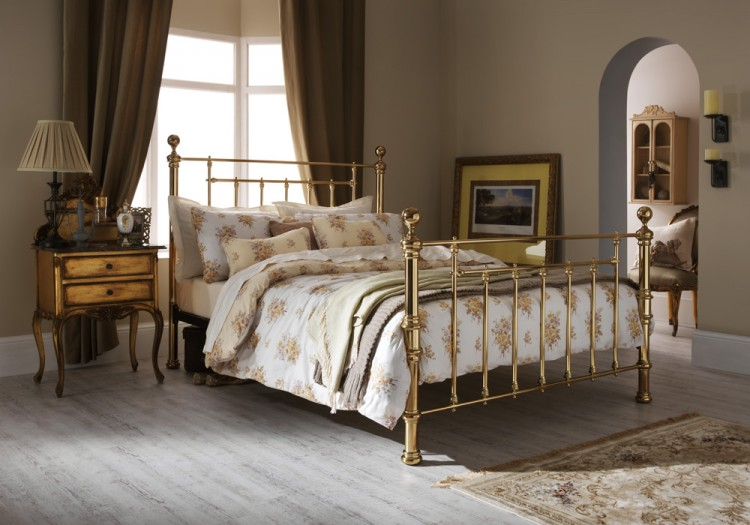 Serene Benjamin 5ft King Size Brass Metal Bed Frame By