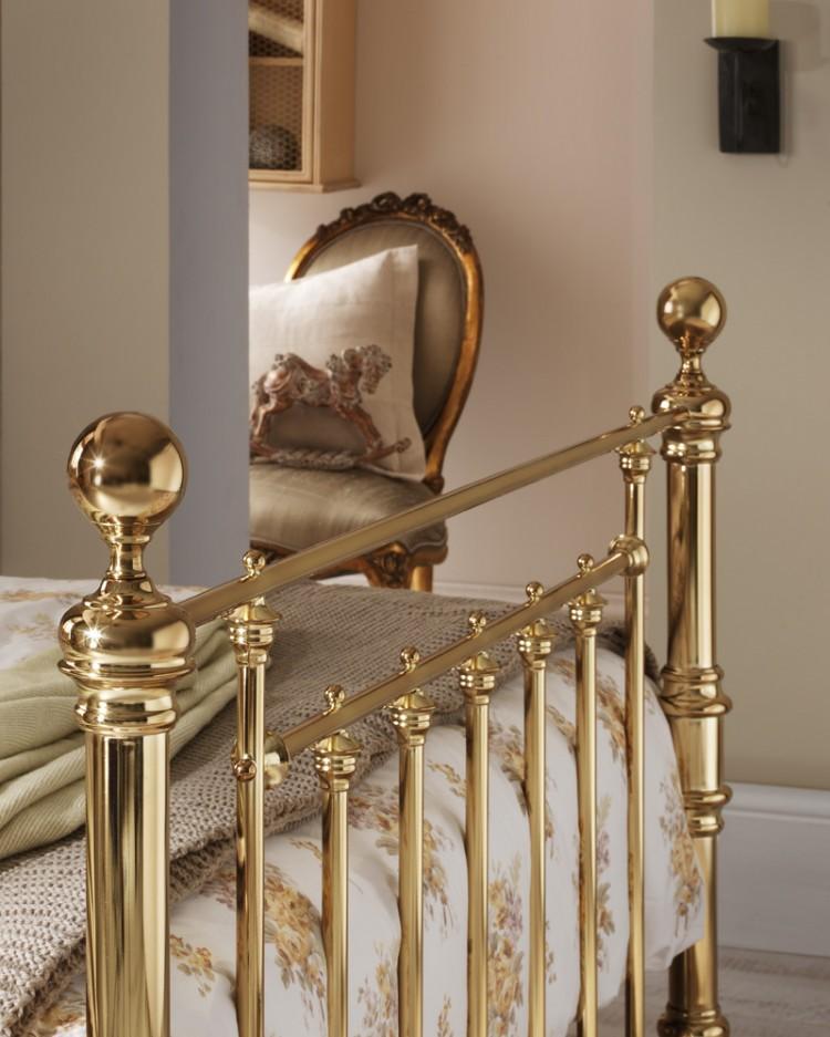 Serene Benjamin 5ft King Size Brass Metal Bed Frame By