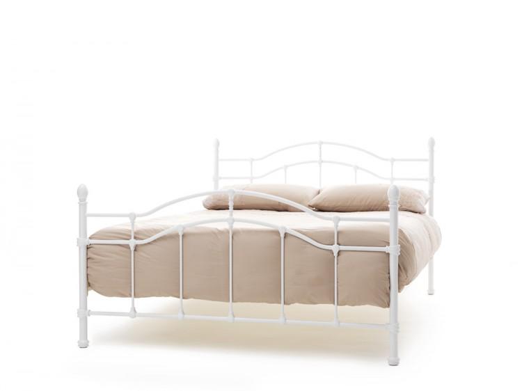 Serene Paris 4ft6 Double White Gloss Metal Bed Frame by Serene ...