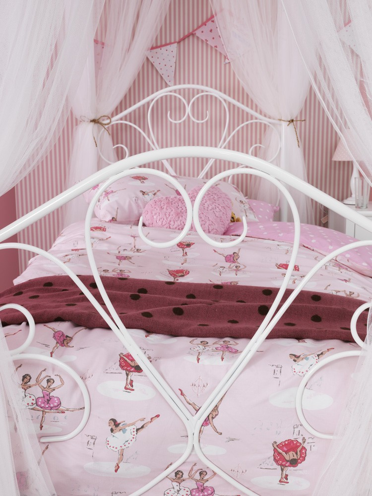 Serene Isabelle 3ft Single White Four Poster Metal Bed