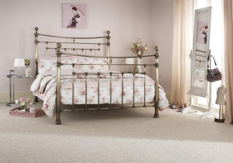 serene edmond 6ft super king size brass metal bed frame - Metal Bed Frames King