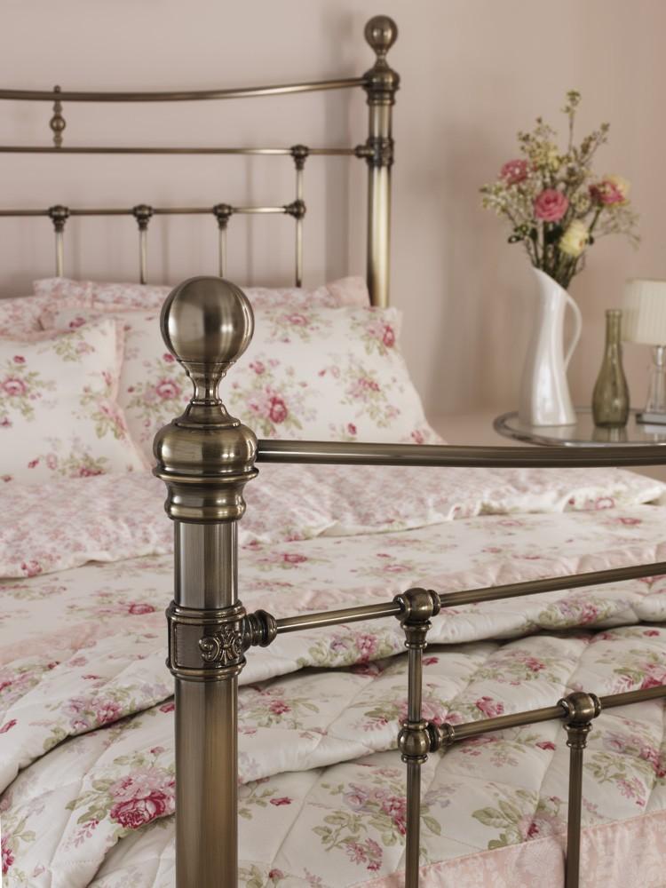 Serene Edmond 6ft Super King Size Brass Metal Bed Frame By