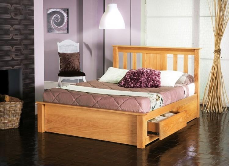 Limelight Vesta 6ft Super Kingsize Oak Bed Frame With Drawers By Limelight  Beds