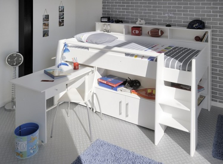 Parisot Swan White Mid Sleeper Bed By Parisot - Parisot bedroom furniture