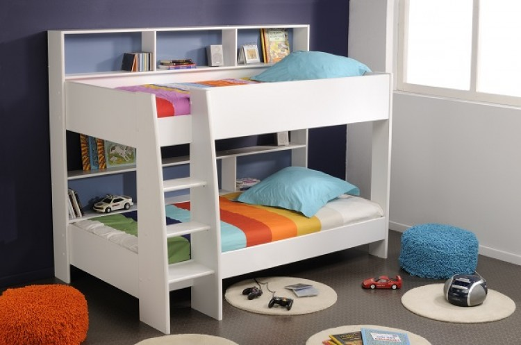 Parisot Tam Tam 2 White Childrens Bunk Bed By Parisot