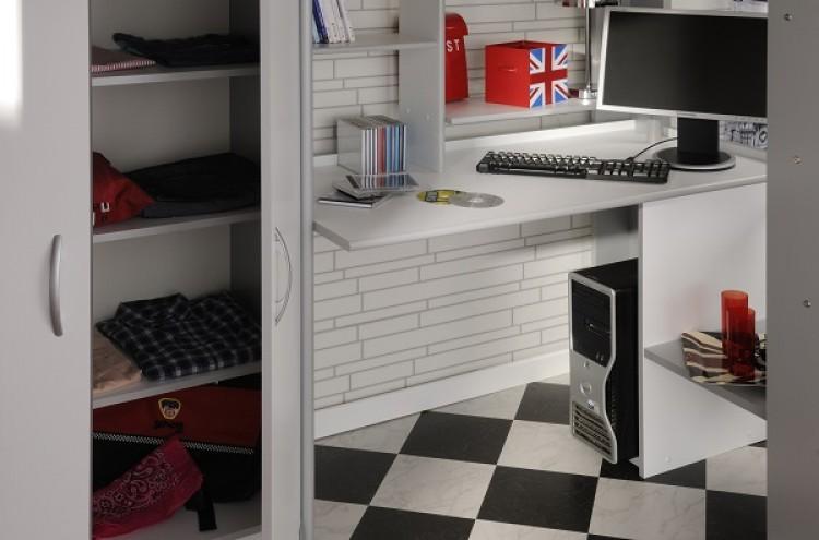 parisot thuka beds space 1 childrens white high sleeper. Black Bedroom Furniture Sets. Home Design Ideas