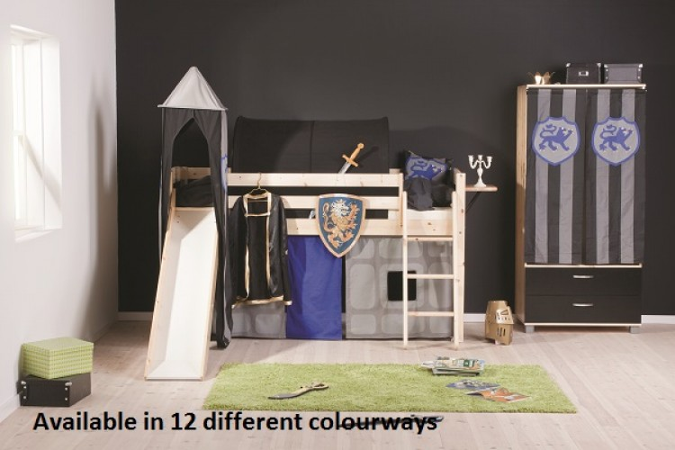 Thuka Trendy 18 Midsleeper Bed With Slide Choice Of Colours By