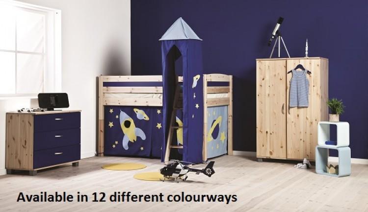 Thuka Trendy 4 Shorty Midsleeper Bed Choice Of Colours By Thuka