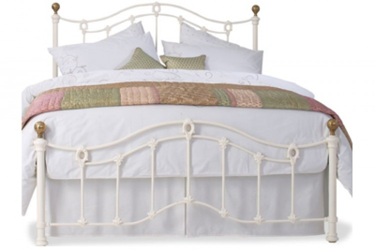 obc clarina low foot end 6ft super kingsize ivory metal. Black Bedroom Furniture Sets. Home Design Ideas