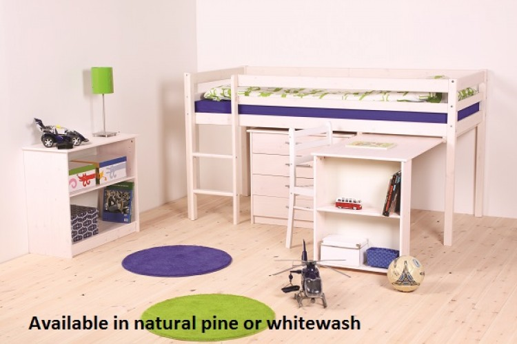 Thuka Hit 12 Childrens Mid Sleeper Bed Frame Available In Natural Or Whitewash By Thuka