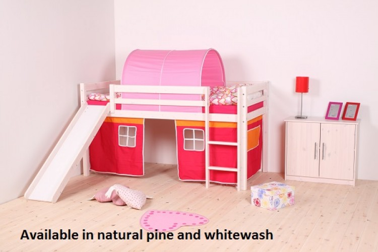 7dda069d1c23 Thuka Hit 19 Childrens Mid Sleeper Bed Frame Available in Natural or  Whitewash by Thuka