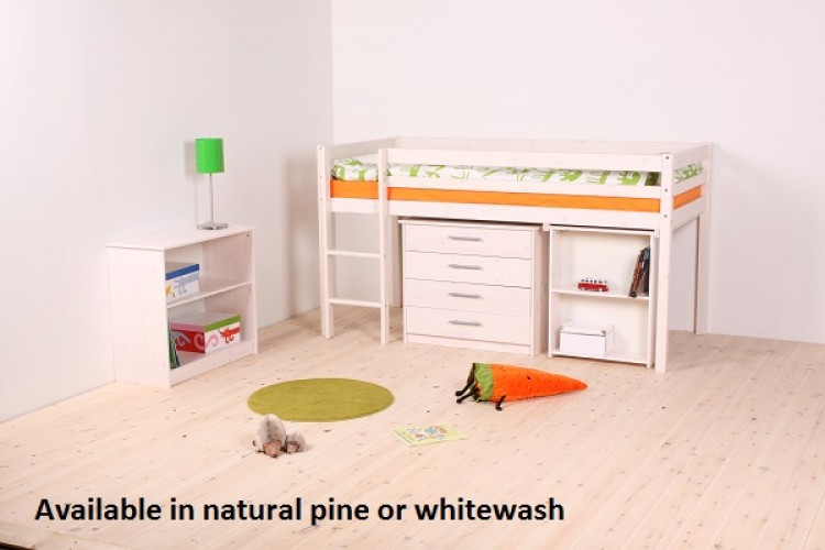 Thuka Hit 25 Childrens Mid Sleeper Bed Frame Available In Natural Or