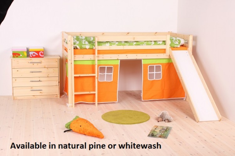 195525e8c980 Thuka Hit 26 Childrens Mid Sleeper Bed Frame Available in Natural or  Whitewash by Thuka