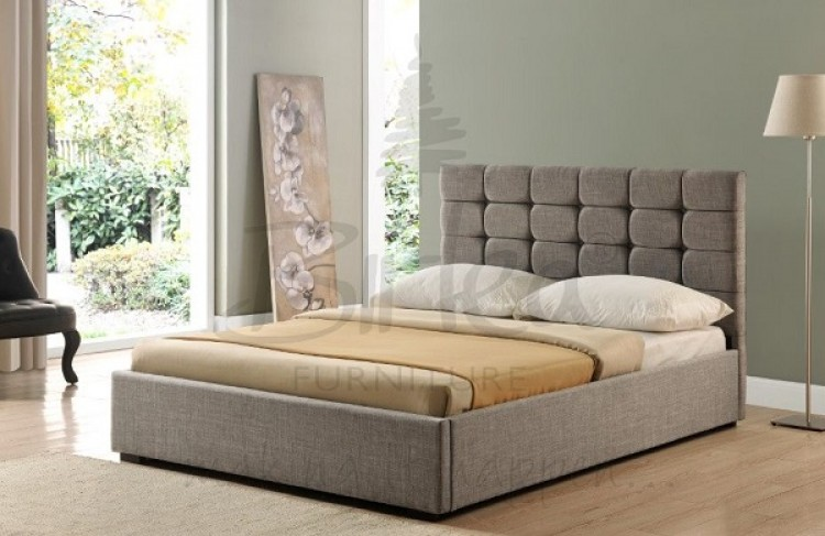 Birlea Isabella 4ft6 Double Grey Upholstered Fabric Bed Frame by