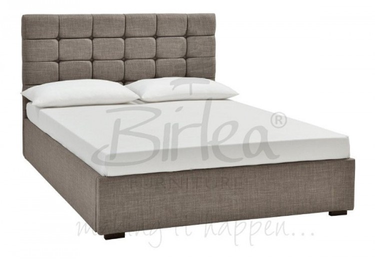 Birlea Isabella 4ft6 Double Grey Upholstered Fabric Bed