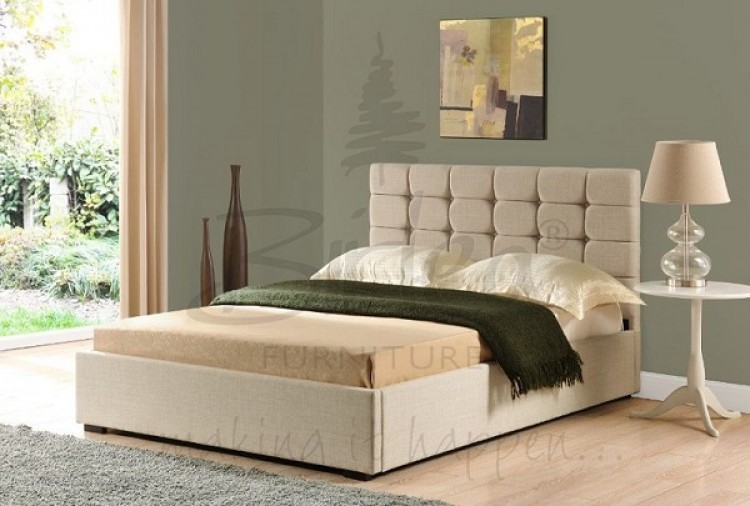 912073f43bc2b8 Birlea Isabella 6ft Super King Size Cappuccino Upholstered Fabric Bed Frame  by Birlea