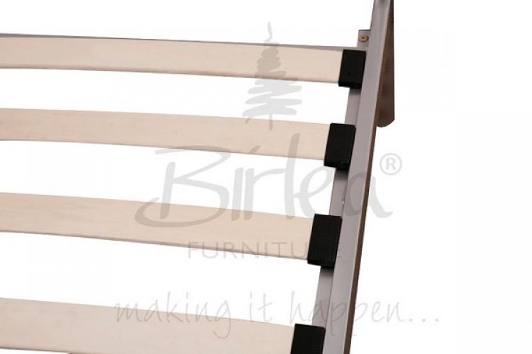 Birlea Atlas 3ft Single Cream Metal Bed Frame By Birlea